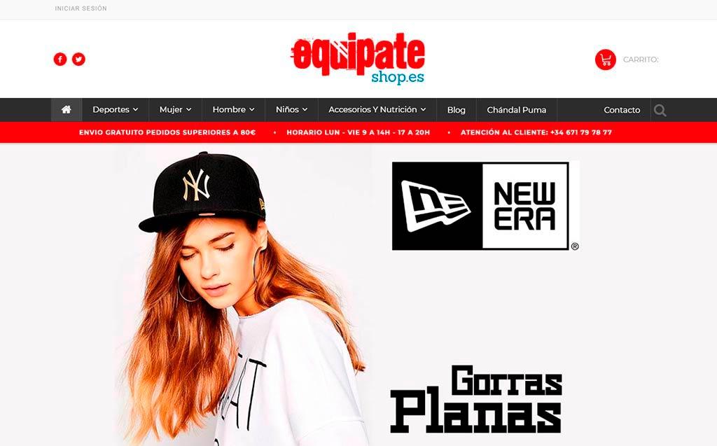 Web equipateshop de Lucena
