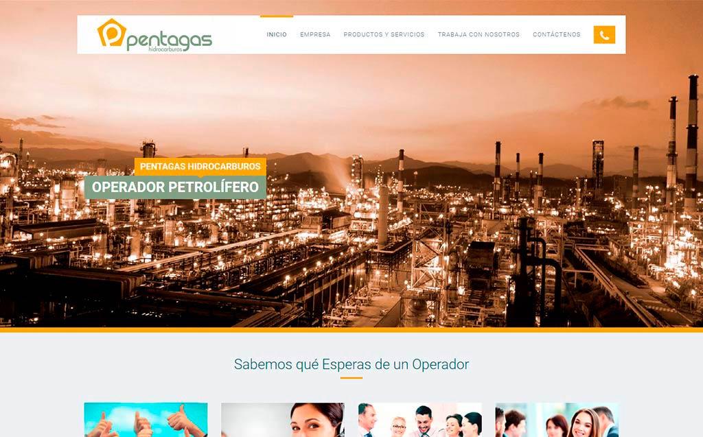 Web corporativa pentagas.eu Lucena