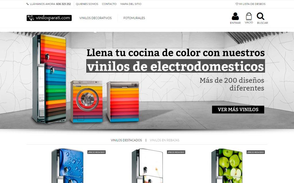 Pagina web vinilosparati.com de Lucena