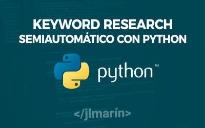 Keyword Research Semiautomático con Python